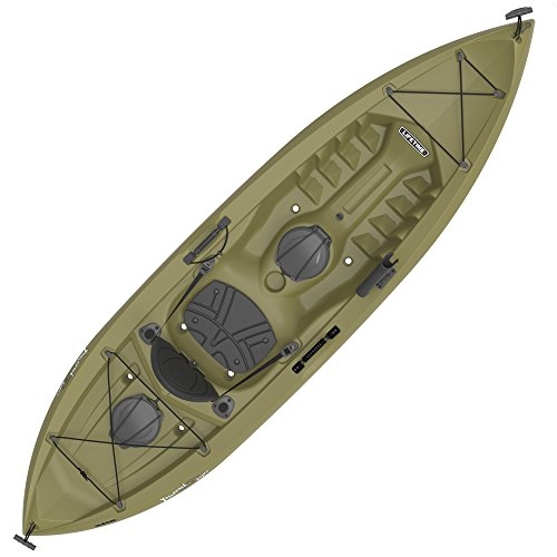 "Lifetime Tamarack Angler Sit-On-Top Kayak, Olive, 120"""