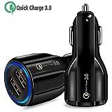 ULTRICS Chargeur de Voiture USB, Universel 2 Ports QC 3.0 Car Charger Rapide...