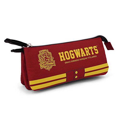 Karactermania Harry Potter Gryffindor-Triple HS Pencil Case Astuccio, 24 cm, Rosso (Red), poliestere