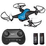 tech rc Mini Drone Facile da Pilotare con Due Batterie Funzione...