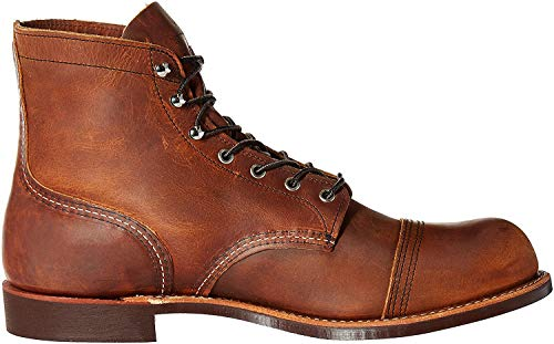 Red Wing Heritage Men's Iron Ranger Work Boot, Copper Rough and Tough, 10 D US