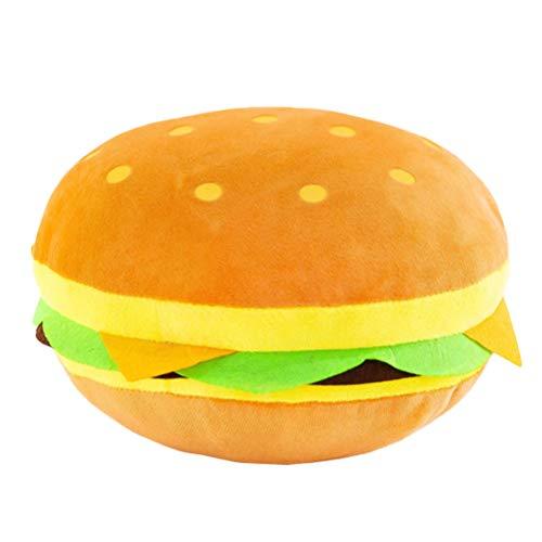 NUOBESTY Cheeseburger Cuscino di Peluche Gigante Hamburger Jeter Cuscino Imbottito Hamburger Morbido Hamburger Alimentazione in Peluche Giocattolo Regalo