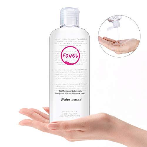 Gleitgel, Fovel Gleitmittel Wasserbasis Erotik Gleitmittel Wasser für Sie und Trokenheit Langlebig Hypoallergen Lubricant Langanhaltender Anal Dildo Gleitgel(236ml)
