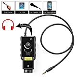 XLR Microphone Preamp Adapter for Smartphone Vlog Karaoke, Saramonic Mic with 6.3mm Guitar Adapter & Phantom Power Preamp Amplifier for iPhone 11 X 8 8 Plus 7 7 Plus 6 iPad iPod, Android and Guitar