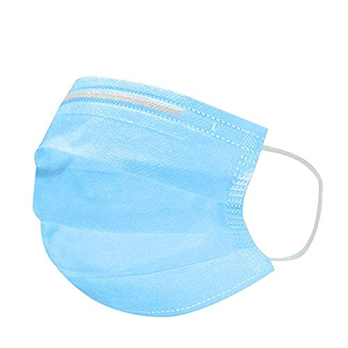 Goldyqin Confezione da 50 maschere usa e getta per viso, 1 Size, A Box, 50 pezzi, blu.