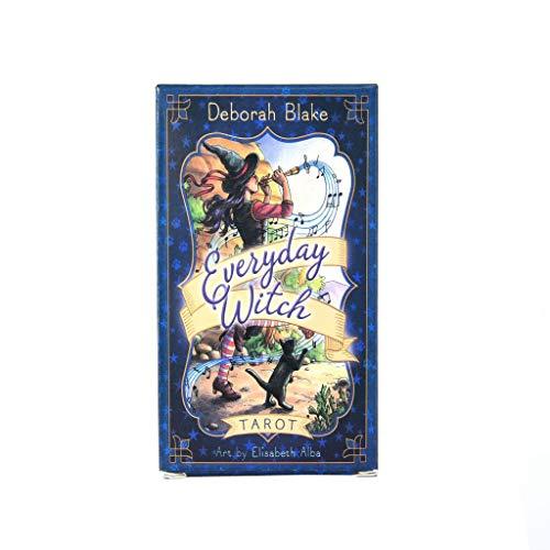 HEHEERHUO Tarot Destino clásico de adivinación Tarjeta-Todos los días de la Bruja manteles de Tarot y Bolsas de Almacenamiento
