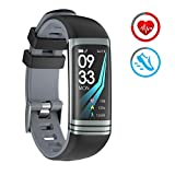 Smart Watch Fitness Tracker con Cardiofrequenzimetro Pedometro Calorie Monitoraggio del sonno IP67 Impermeabile Bluetooth Braccialetto Activity Compatibile con Android e IOS