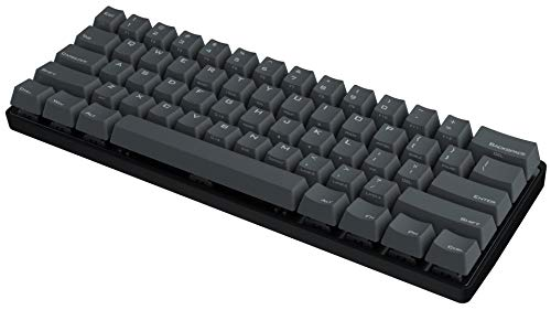 Vortexgear Pok3r 60% Mechanical Gaming Keyboard - KBC Poker 3-61 Keys PBT Laser Etched Keycaps - Gamers and Typists - PC/Mac/Linux - Programmable [Metal Casing] Tactile (Cherry Mx-Brown, Black)