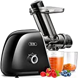 Slow Juicer, TKTK Multipurpose Masticating Juicer Extractor with Wide Feed Chute & 2-Speed Modes, Cold Press Juicer 92% Juicer Yield, Quiet Motor & Easy to Clean with Recipe for Fruits & Vegetables