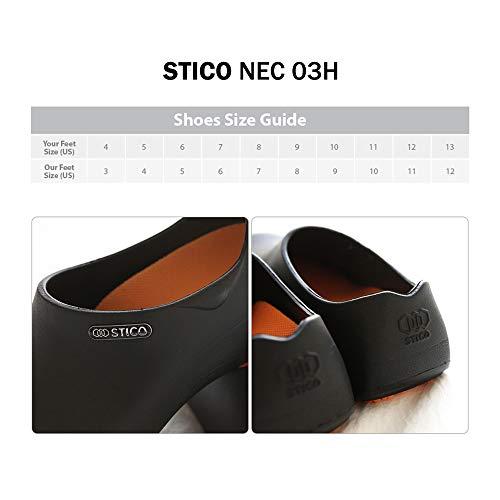 Product Image 7: STICO Men's Slip Resistant Chef Clogs, Professional Non-Slip Work Shoes with Air Vents for Restaurant Hospital Nursing Garden [Black/US Men 5]