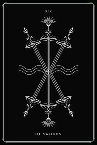 Six of Swords: Black and White Tarot Card, Tarot Card...