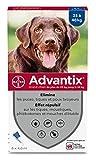 ADVANTIX Grand Chien – Anti-Puces et Anti-Tiques – 25-40KG...