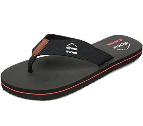 Alpine Swiss Mens Flip Flops Beach Sandals EVA Sole Comfort...