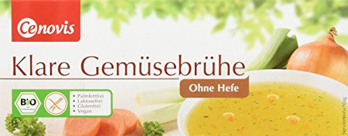 Cenovis Bio Klare Gemüsebrühe ohne Hefe, laktosefrei, glutenfrei und vegan, 4er Pack (4 x 132 g)