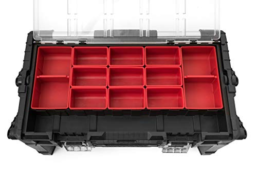 Product Image 8: KETER 22 Inch Cantilever Plastic Portable Tool Box Organizer with Metal Latches for Small Parts, Hardware and Tool Storage and Organization