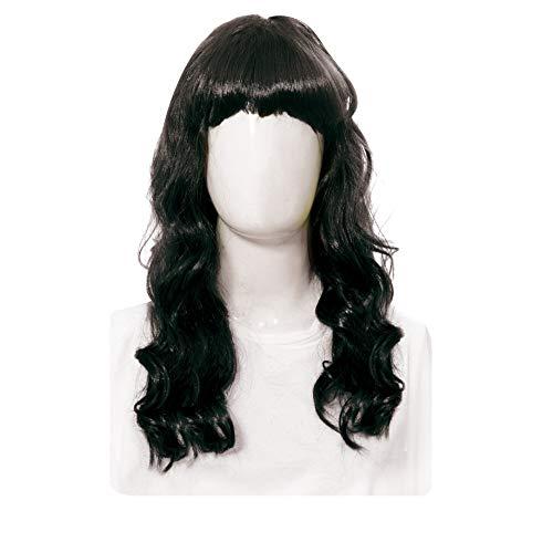 Acessorio peruca longa preto c/1 un