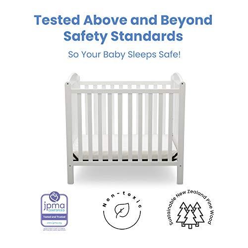 Product Image 3: Delta Children Emery Mini Convertible Baby Crib with 2.75-inch Mattress, Bianca White