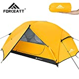 Forceatt Tent 3 Person Camping Tent, Waterproof and Windproof 3-4 Seasons Ultralight Backpack Tent, can be Installed Immediately, Suitable for Hiking, Camping, Outdoor