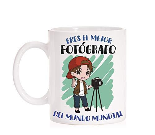 FUNNY CUP Taza Eres el Mejor Fotógrafo del Mundo Mundial. Taza Divertida de Regalo (Fotografo)