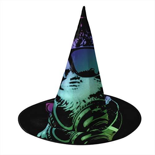 OJIPASD Cuffie DJ Cat Cappello da strega Halloween Unisex Costume Per Feste Halloween Natale Carnevale Festa