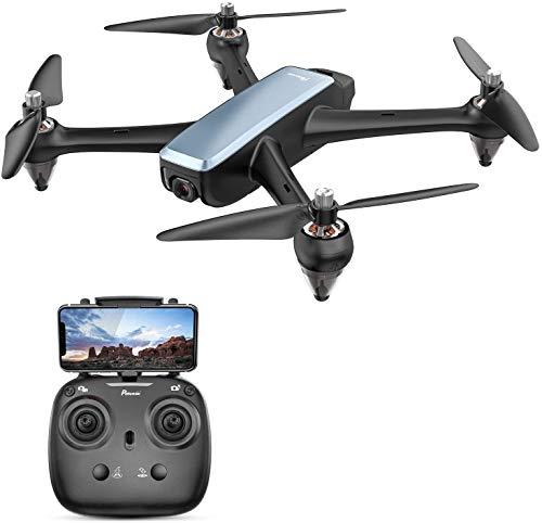 Potensic Drone Brushless GPS con Telecamera1080P 5G WiFi FPV RC Drone Professionale D60 Grandangolare Telecomando Videocamera Seguimi GPS Ritorno a Casa Mantenere Altitudine Lunga Distanza, Nero