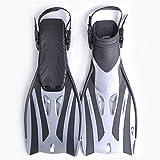 GFBVC Aletas De Gama Alta Snorkel Aletas Entrenamiento de natación Largo Aletas Aletas Guía Hidroalas Equipo de Buceo Sambo Aletas De Snorkeling De Natación (Color : Black, Size : 41-45)