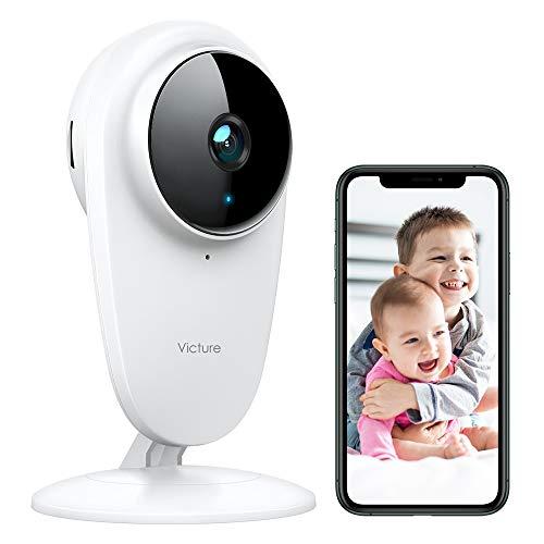 Victure 1080P Caméra de surveillance,Caméra WiFi sans Fil,Caméra Dome IP Intérieur,Vision Nocturne de Détection de Mouvement Audio Bidirectionnelle