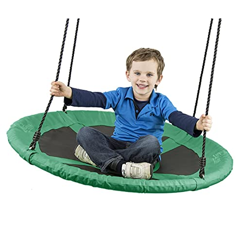 """Flying Squirrel 40"""" Saucer Tree Swing - Green"""