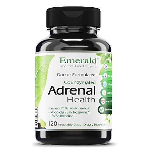 Adrenal Health - with Sensoril ® Ashwagandha for Improved Energy Levels, Sleep Support, Stress Relief, & Promotes Mental Clarity - Emerald Labs- 120 Vegetable Capsules