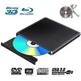 Lecteur Graveur DVD Externe Blu Ray 3D USB 3.0 Portable Ultra Slim Graveur de...
