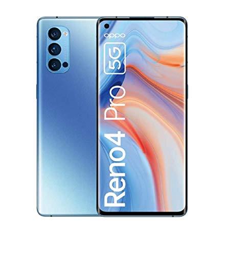 OPPO Reno4 Pro 5G, 6.5 Zoll 90Hz AMOLED-Display, 48MP Triple-Kamera + 12MP Ultra Nacht Weitwinkel Videokamera, 32MP Frontkamera, inkl. Gutschein[Exklusiv bei Amazon], Galactic Blue – Deutsche Version