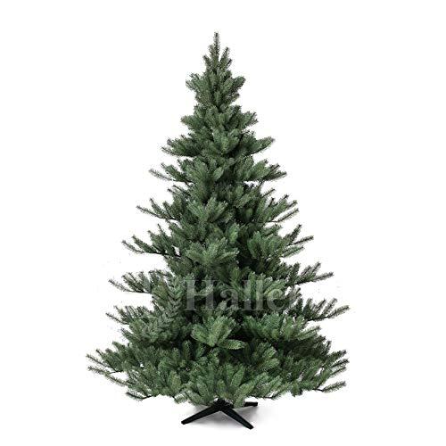 Original Hallerts® Spritzguss Weihnachtsbaum Alnwick 210 cm Nordmanntanne - zu 100{196bed7ee1fa2faad517a312d27aec4d13a1e11df7922fc1cb7e32bc4806cd80} in Spritzguss PlasTip® Qualität - schwer entflammbar nach B1 Norm, Material TÜV und SGS geprüft - Premium Spritzguss