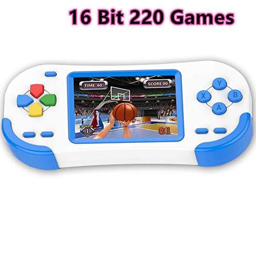 Bornkid 16 bits Consola de Juegos de Mano para Nios y Adultos con 220...