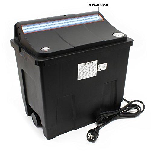 SunSun Biofilter CBF-200U Filteranlage mit UVC Einheit 9 W Filtersystem Teich