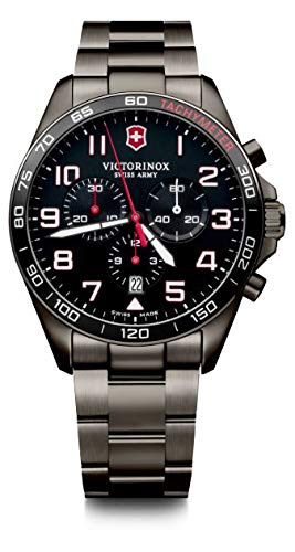 Victorinox Herren FieldForce Sport Chronograph - Swiss Made Analog Quarz Edelstahl Uhr 241890