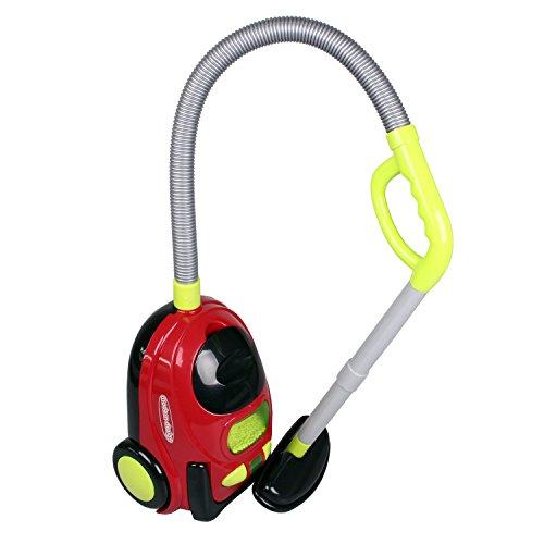 Simon XS-14025 Kinderstaubsauger ROT mit Funktion Staubsauger für Kinder