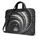 DJNGN Bolso Bandolera para portátil de 15,6 Pulgadas, maletín con Forma de Espiral para escaleras