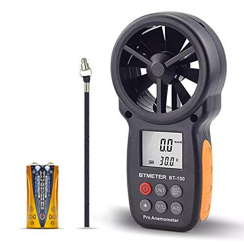 BTMETER BT-100 Handheld Anemometer Digital Wind...