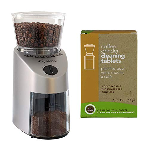 Capresso 560.04 Infinity Conical Burr Coffee Grinder with Urnex Full Circle Biodegradable Cleaning Tablets (2 Items) 1