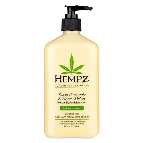 Hempz Sweet Pineapple & Honey Melon Moisturizing Skin Lotion, Natural Hemp Seed Herbal Body Moisturizer with Jojoba, Natural Extracts, Vitamin A and E, 17 oz 1