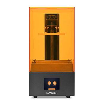 LONGER Orange 10 Imprimante 3D en Résine avec Écran Tactile, Matrix-UV-LED, Coupe Rapide, Dystème D'avertissement de Température, Taille D'impression 98mm(L) x 55mm(W) x 140mm(H)