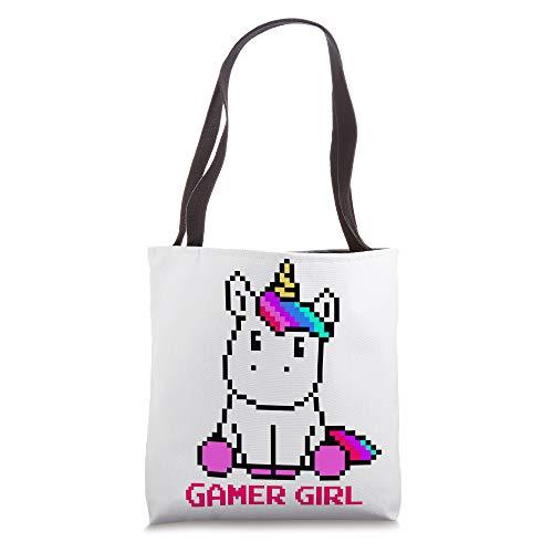 Kawaii Unicorn Gaming Video Games Character Gamer Girl Gift Tote Bag