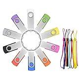Cle USB 32 Go Lot de 10 Clés USB Flash Drives Stockage Rotation Disque Mémoire...