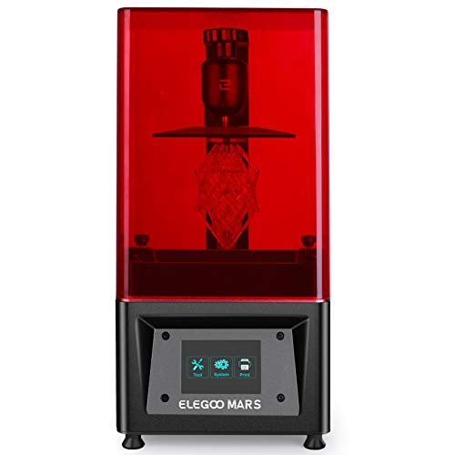 """ELEGOO Mars UV Photocuring LCD 3D Printer with 3.5'' Smart Touch Color Screen Off-line Print 4.72""""(L) x 2.68""""(W) x 6.1""""(H) Printing Size Black Version"""