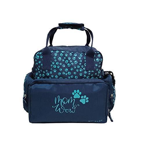 IFFOVERSEAS ZIPLOC Polyester Adjustable Strap Diaper Bag for Women (Blue)