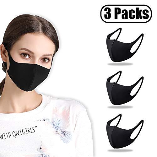 Mascherine per il viso a quattro strati, maschere di filtro dell'aria, Mascherine per la bocca con anello elastico per le orecchie, traspirante, Anti-saliva, Anti-polvere, Anti-nebbia, 3PCS