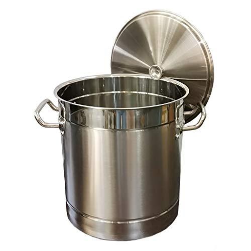 Pentole Pentola, Catering Domestico Pentola Commerciale/Acciaio Inox 304 Con Coperchio For La Stufa A Gas/Piano Cottura Ad Induzione (15-80L) (Size : 60L)