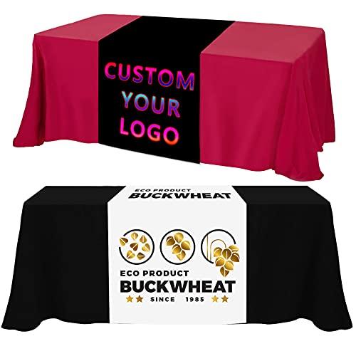Farmelov Custom Table Runner with Business Logo, 13'x72'...