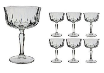 Opera Maison Italian Crystal Champagne Cocktail Saucers (24cl) (Set of 6)