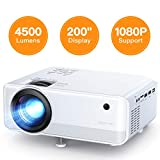 Mini Projector, APEMAN 4500 Lumen 1080P Supported Projector, 200'' Display 50000 Hrs LED Life, Dual...